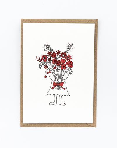 Kaart Flower girl