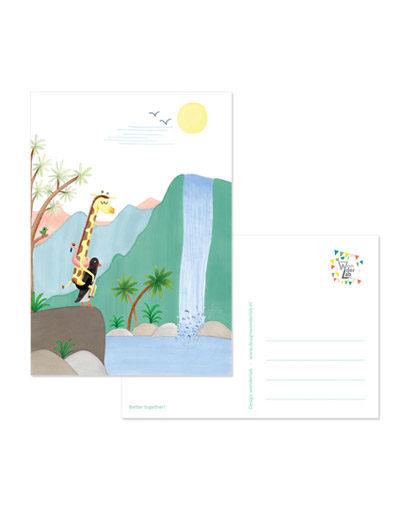 Kaart Giraffe & Pinguïn