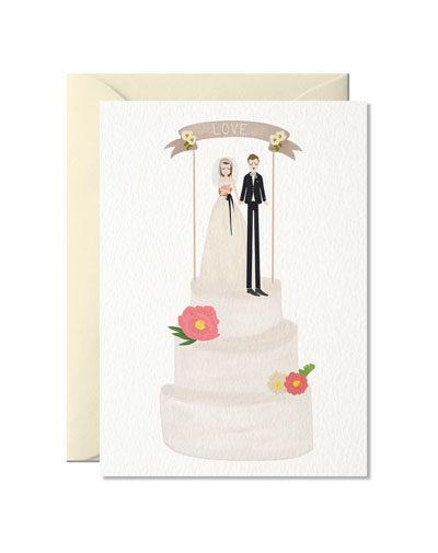 Wenskaart Wedding Cake