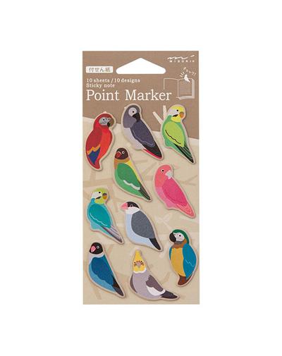 Markeerstickers Parrots