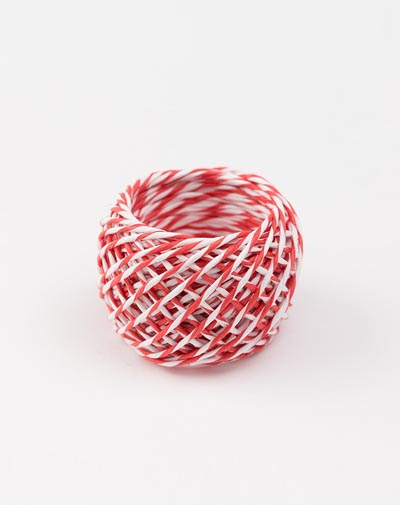 Paper String Red - White