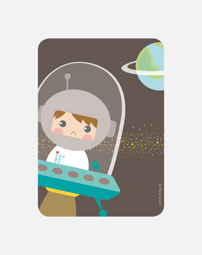 Party Invite Astronaut (set van 6)