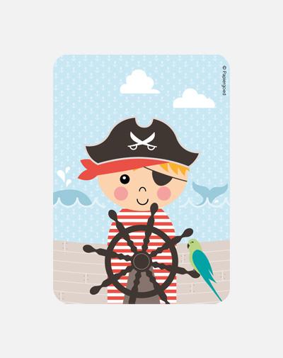 Party Invite Piraat (set van 6)