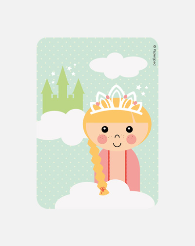 Party Invite Prinses (set van 6)