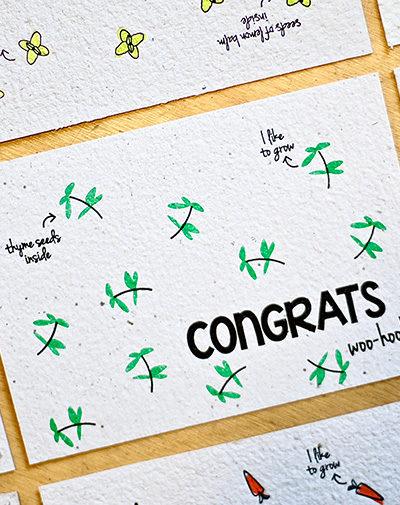 Duurzame stationery Bloeikaart Congrats