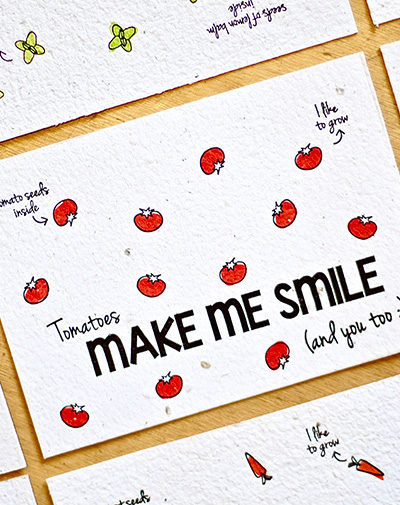 Duurzame stationery Bloeikaart Make Me Smile