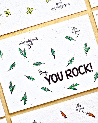 Duurzame stationery Bloeikaart You Rock