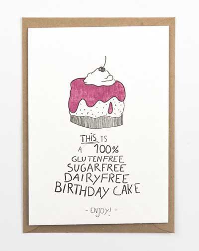 Kaart Glutenfree Cake