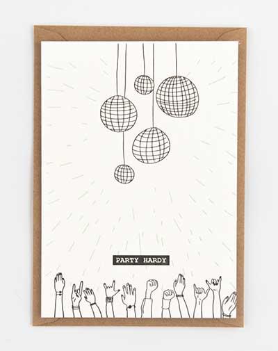 Kaart Party Hardy