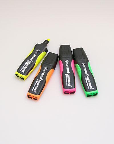 Stabilo Greenboss - set van 4 kleuren