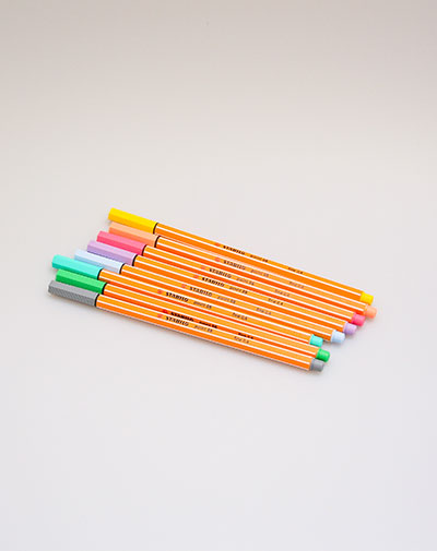 Stabilo Point 88 fineliner pastel - 8 kleuren in etui