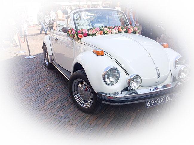 Trouwauto gespot in Haarlem