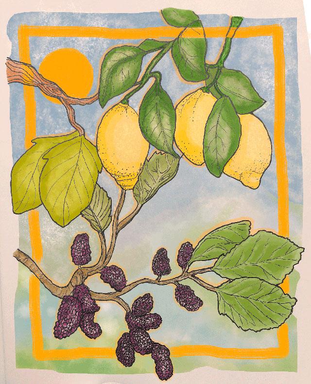 Illustratie Sicilia van Babette Bibi