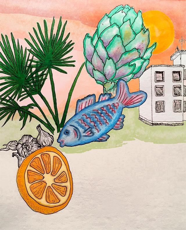 Illustratie Mazarro del Vallo van Babette Bibi