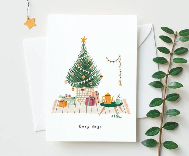 Kerstkaart Cozy Days van Studio Kuukeluus