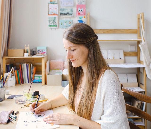 Studio Kuukeluus illustrator Linda Steenwijk