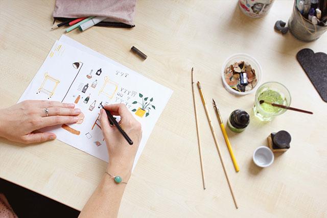 Illustrator Linda Steenwijk van Studio Kuukeluus