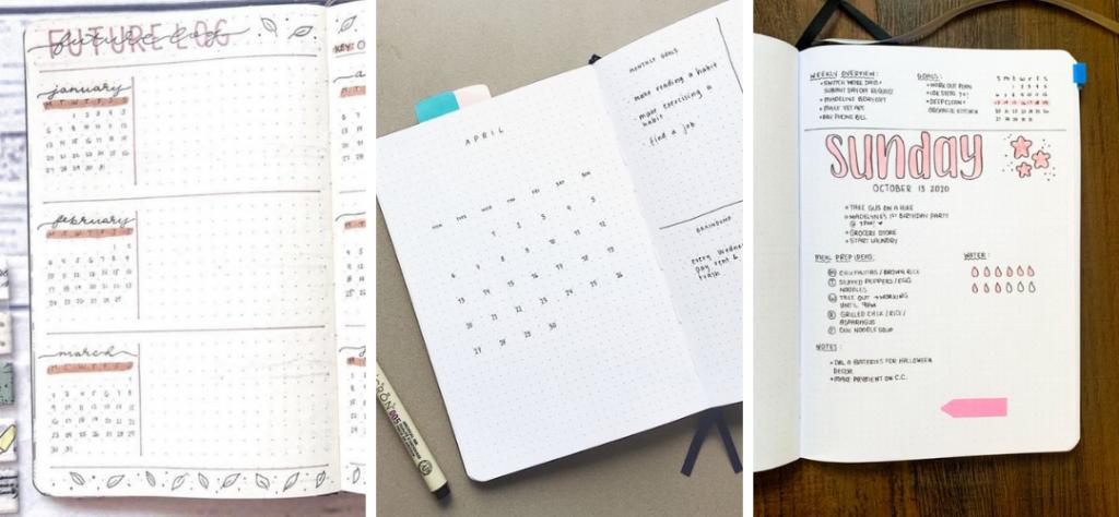 The Stationery Store - bullet journaling voorbeelden